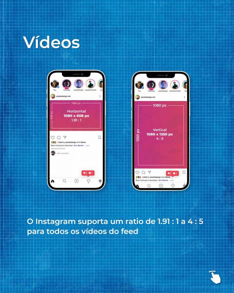 Tamanhos dos vídeos no Instagram