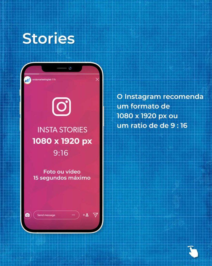 Tamanho dos stories do Instagram