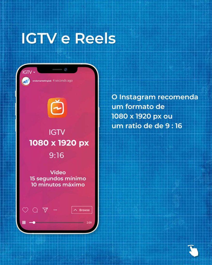 Tamanho de IGTV e Reels